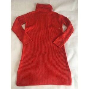 Ann Taylor LOFT Red/Orange Sweater Dress NWT